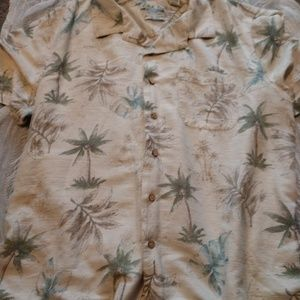 100%Silk Batik Bay Hawaiian Aloha Shirt